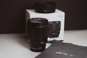 Viltrox 85mm box and packaging