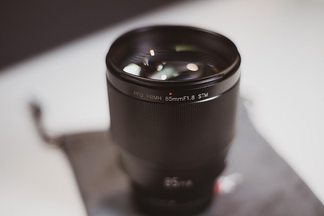 Viltrox 85mm front lens element