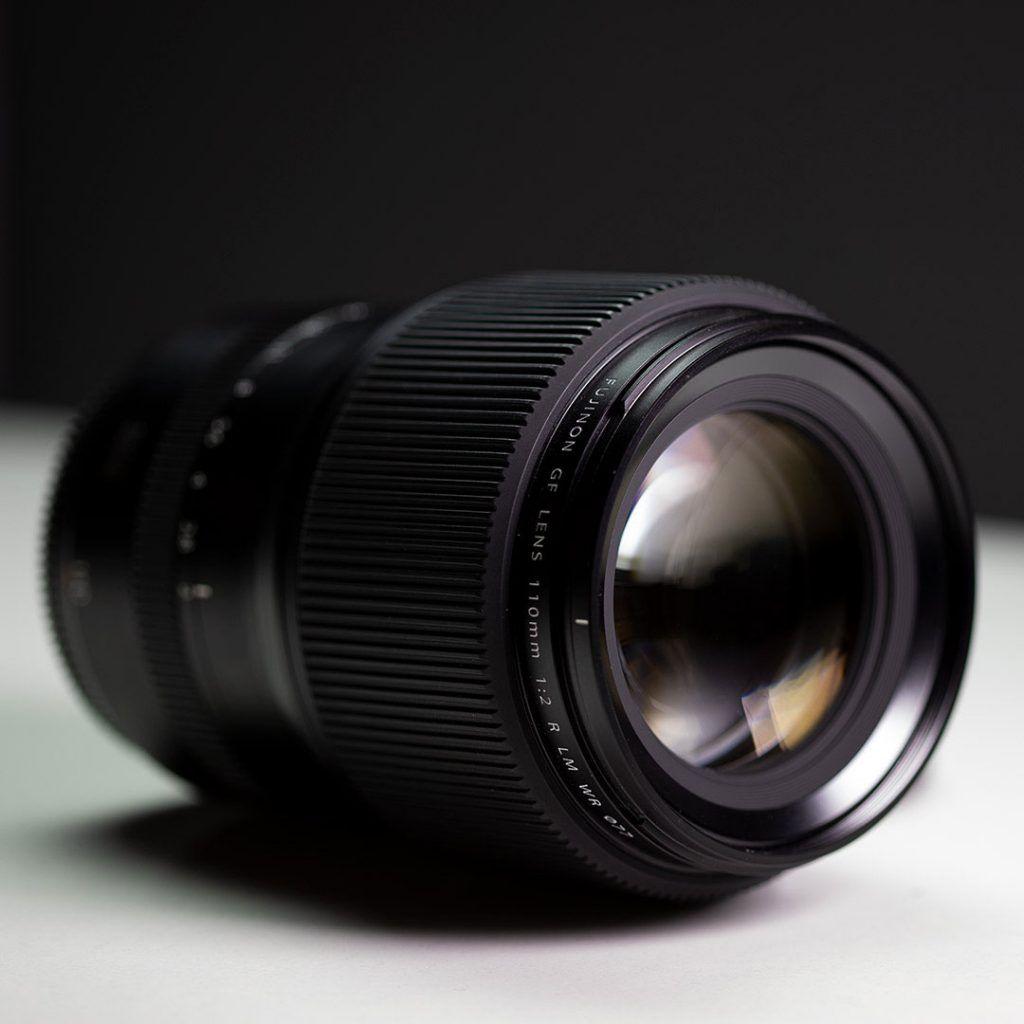 fujifilm GF110mm f/2 front lens element view