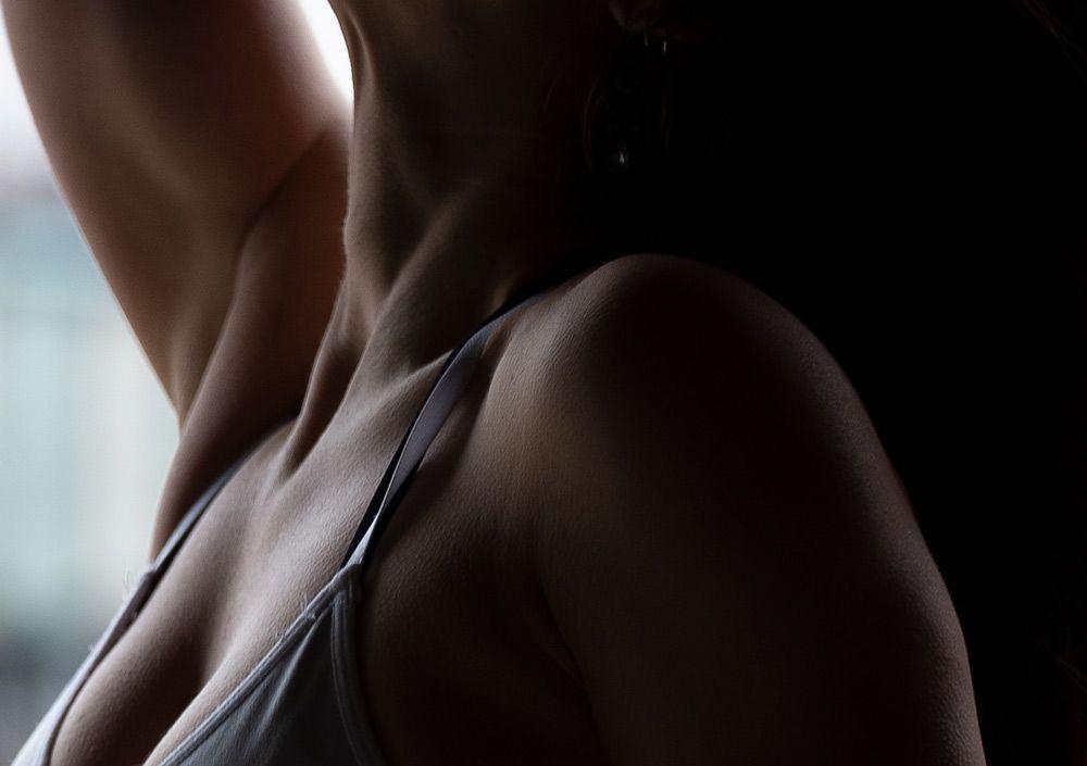 Clode up of woman posing