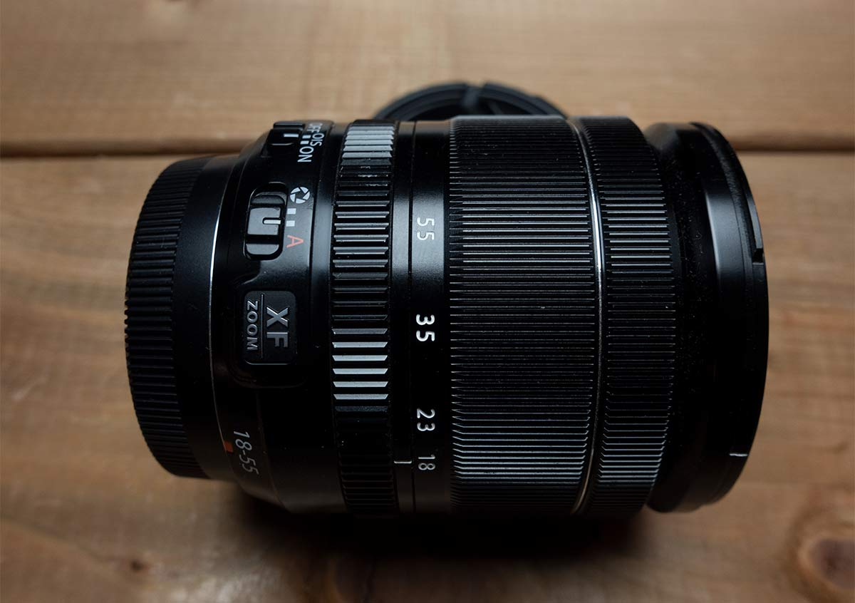 Sideview of the Fujinon 18-55mm f2.8-4.0