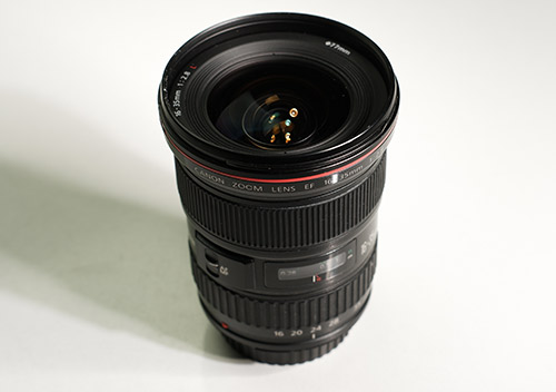 Top image of a canonL 16-35mm zoom lens