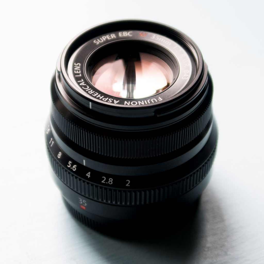 Fujinon 35mm f/2 front element view