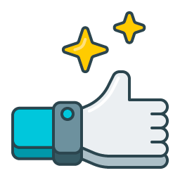thumbs up with stars