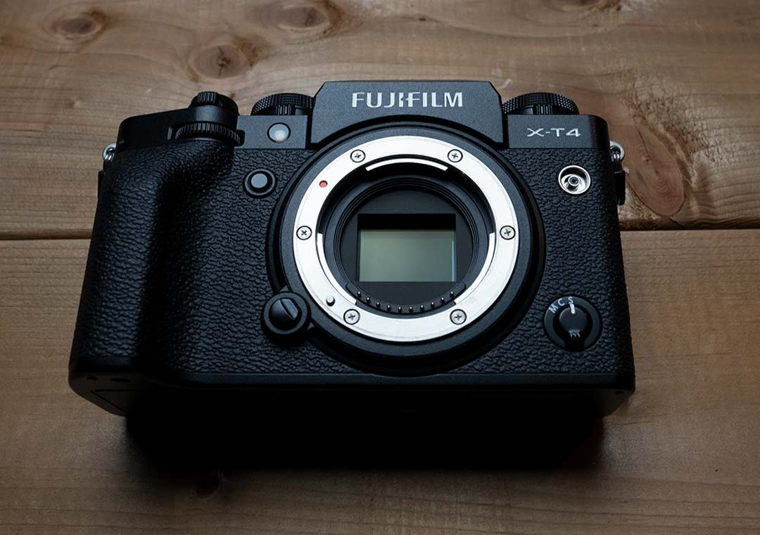 Front view of the Fujifilm X-T4