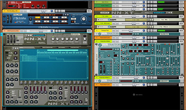 Propellerheads Reason 11 software rack interface